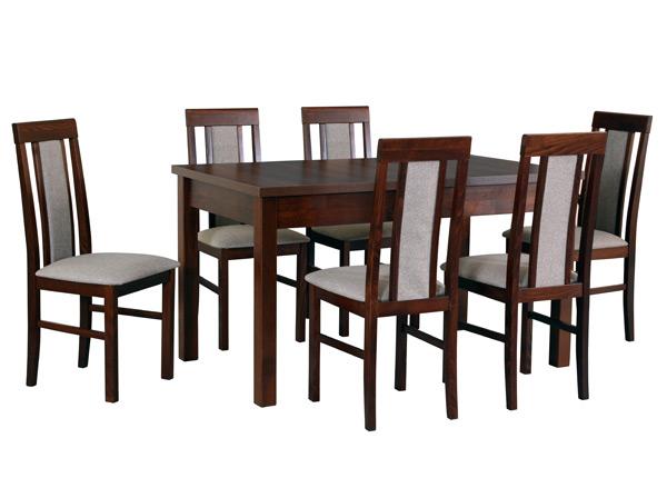 Удлиняющийся обеденный стол + 6 стульев CM-141301