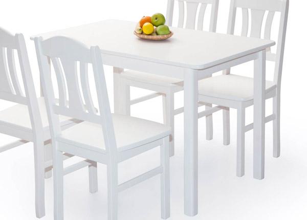 Обеденный стол Per 120x70 cm, белый EC-141326