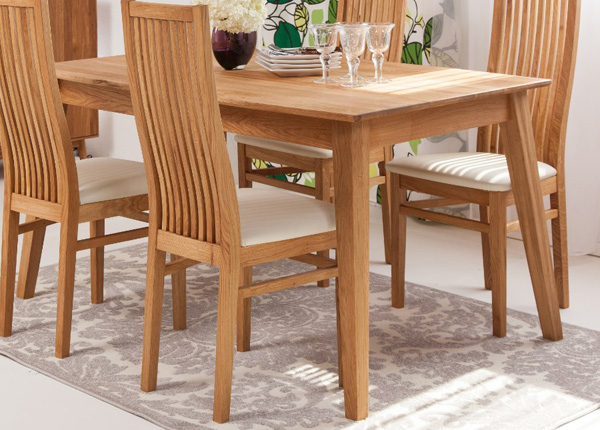 Обеденный стол из массива дуба Genf 160x90 cm EC-141356