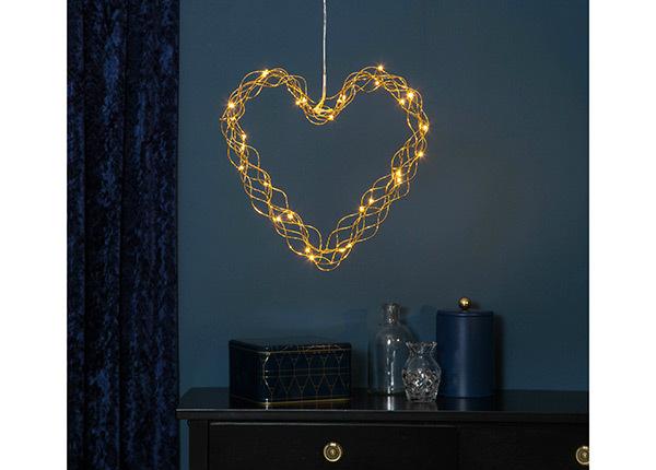Украшение в виде сердца с LED лампочками Curly AA-142449