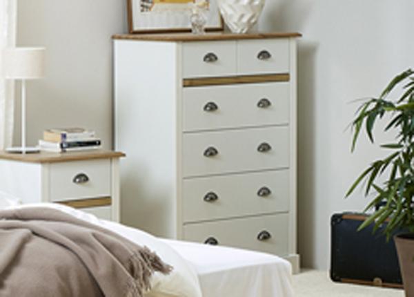 Комод Sandringham, белый/дубовая морилка CM-142511