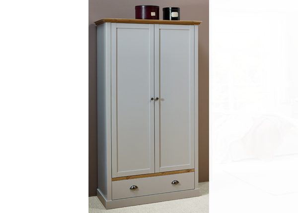 Шкаф платяной Sandringham, серый/дубовая морилка