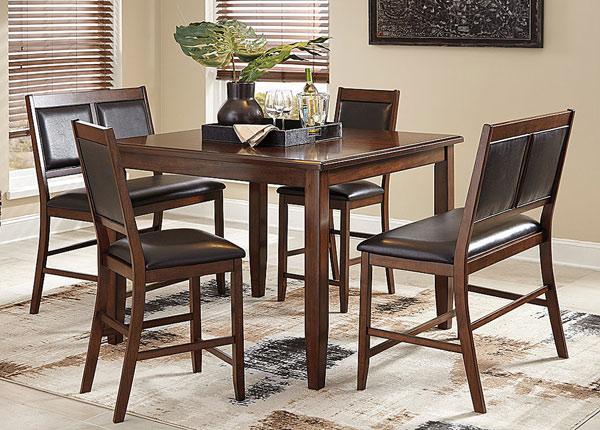 Барный стол 122x122 см + 2 стула и 2 скамьи BM-142669