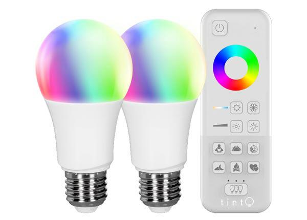 LED лампочка «белый + цветной» + пульт