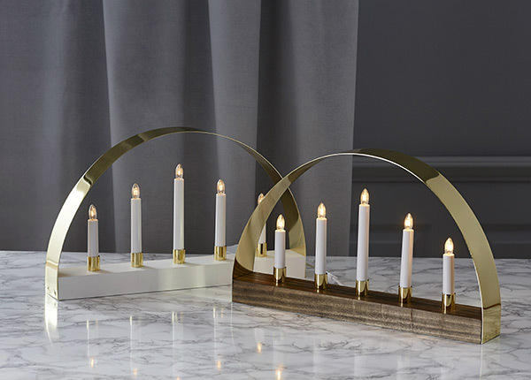 Подсвечник с электрическими свечами Noble AA-142916