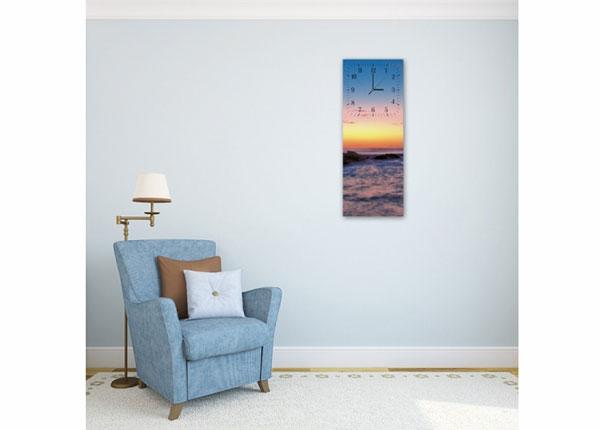 Настенные часы с картиной Rocks at sunset ED-143771