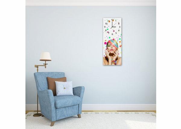 Настенные часы с картиной Woman in colors ED-143833