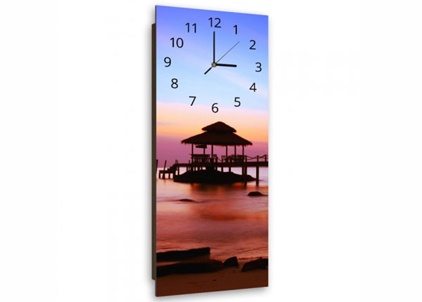 Настенные часы с картиной Bridge at sunset ED-143855