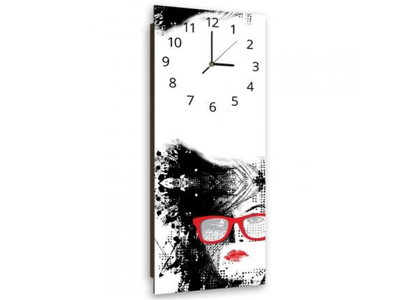 Настенные часы с картиной Woman with glasses ED-143900