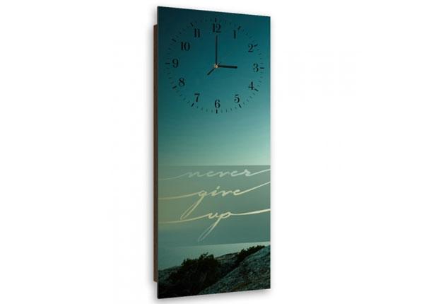 Настенные часы с картиной Never give up ED-143937