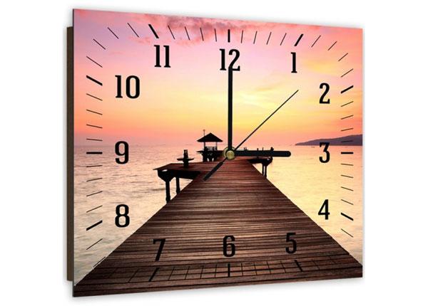 Настенные часы с картиной Bridge at sunset 2