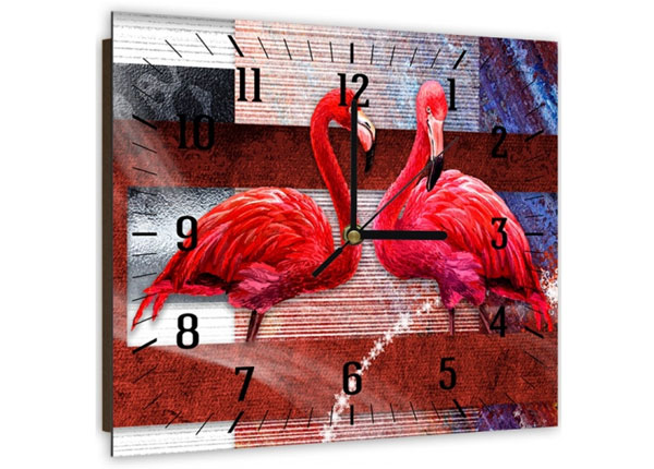Настенные часы с картиной Flamingos