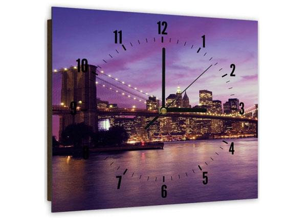 Настенные часы с картиной City