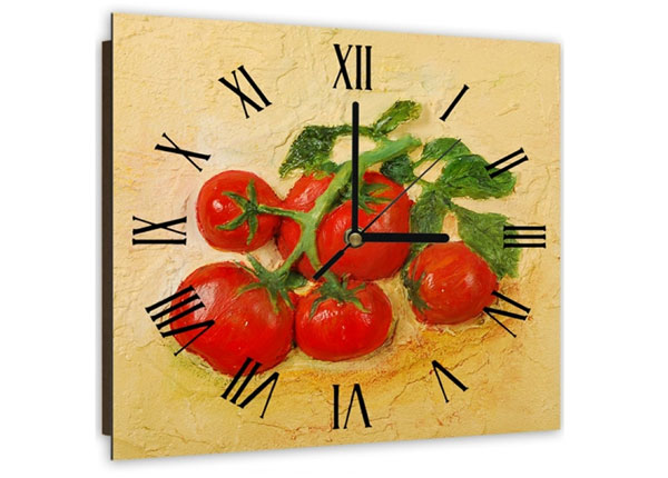 Настенные часы с картиной Tomatoes
