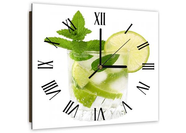 Настенные часы с картиной Mojito