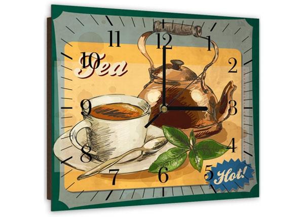 Настенные часы с картиной Hot tea