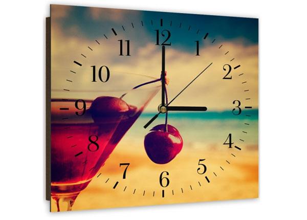 Настенные часы с картиной Cherry drink