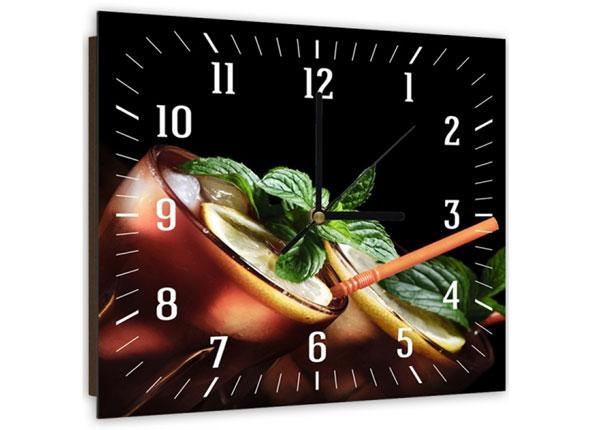 Настенные часы с картиной Cuba cocktail