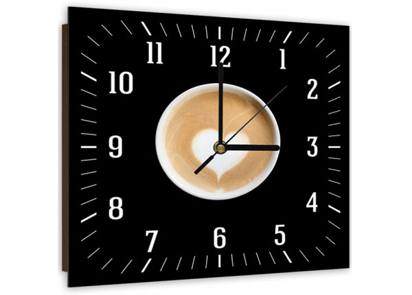 Настенные часы с картиной Coffee with heart