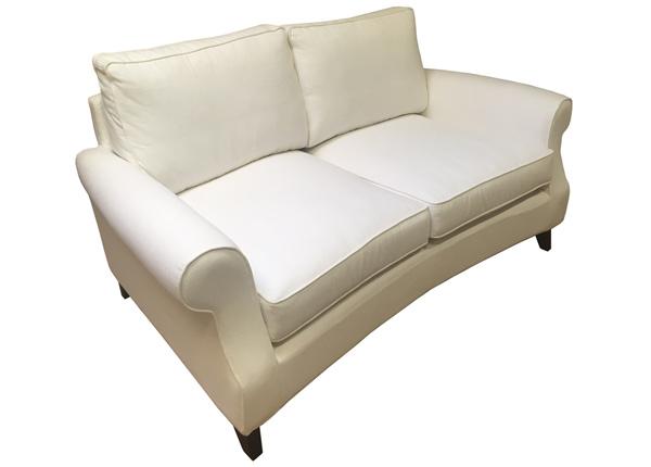 2-местный диван Malmö с перьевыми подушками, закругленный
