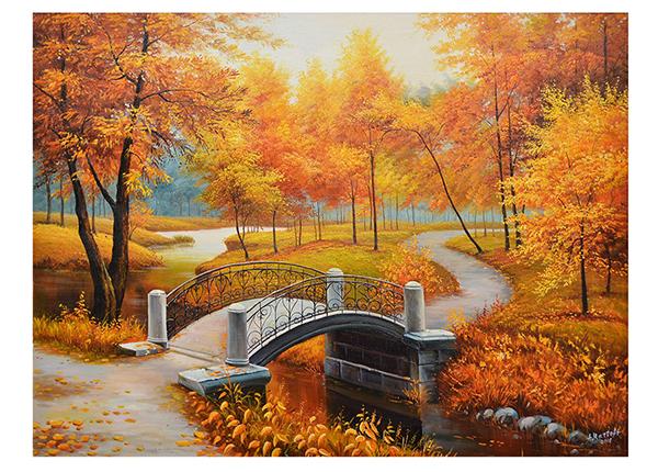 Масляная картина Золотая осень 90x120 см