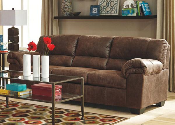 3-местный диван Mirtel, коричневый