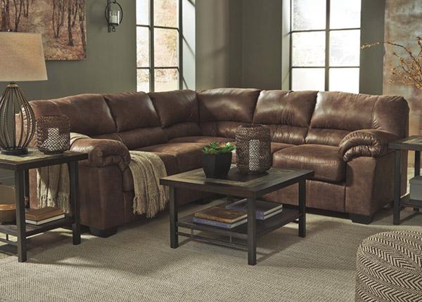 Угловой диван Mirtel, коричневый