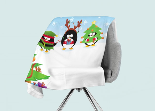Флисовый плед Christmas Penguins 130x150 см ED-146532
