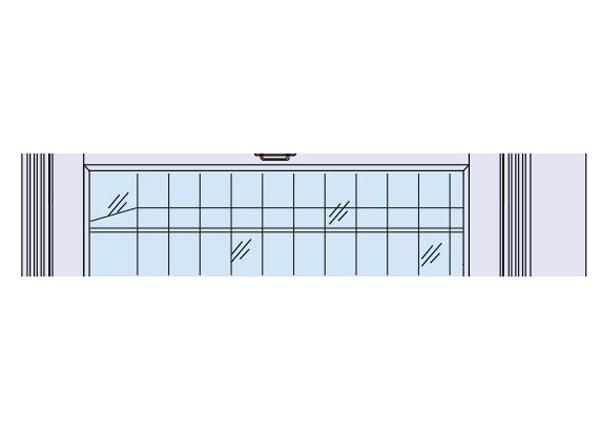Стеклянная полка для витрины Scandic Home