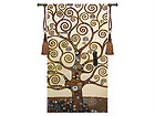 Настенный ковер Гобелен Klimt Tree 76x137 см RY-27642