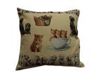 Декоративная подушка из гобелена Кошки и собаки 50х50 см TG-38624