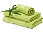 Бамбуковое полотенце зелёное