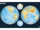 Regio карта полушарий мира 1:34 000 000 RW-45457