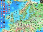 Regio карта Европы с подвеской RW-45470