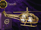 Позолоченная статуя Вертолет с кристаллами Сваровски MO-47053
