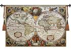 Настенный ковер Гобелен Antique World Map 140x97 см RY-54078