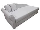 Кожаный диван-кровать с ящиком для белья Helga 90x200 cm SN-54331