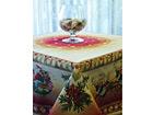 Рождественская скатерть из гобелена Noel Renos 140x140cm TG-56825