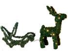 Уличная рождественская декорация Reindeer & Sledge 65cm AA-57384