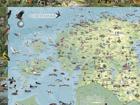 Regio карта Эстонии 99x69cm RW-57749