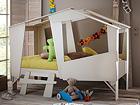 Детская кровать Cabane + матрас Inter Pocket 90x200 cm