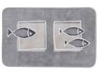 Spirella ковер Andros серый с рыбами 55x65cm UR-61314
