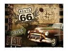 Металлический постер в ретро-стиле Route 66 15x20 см SG-61670