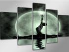 Картина из 5-частей Женщина и луна ED-65607