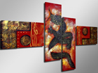 Картина из 4-частей Красный дракон ED-66703