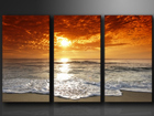 Картина из 3-частей Вечерний пляж ED-67566