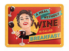 Металлический постер в ретро-стиле A meal without wine 15x20 см SG-68141