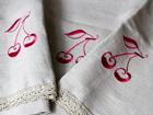 Льняное банное полотенце Вишня KO-69383