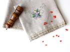 Льняное банное полотенце Виноргад
