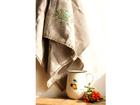 Льняное банное полотенце Зелёный цветок KO-69484